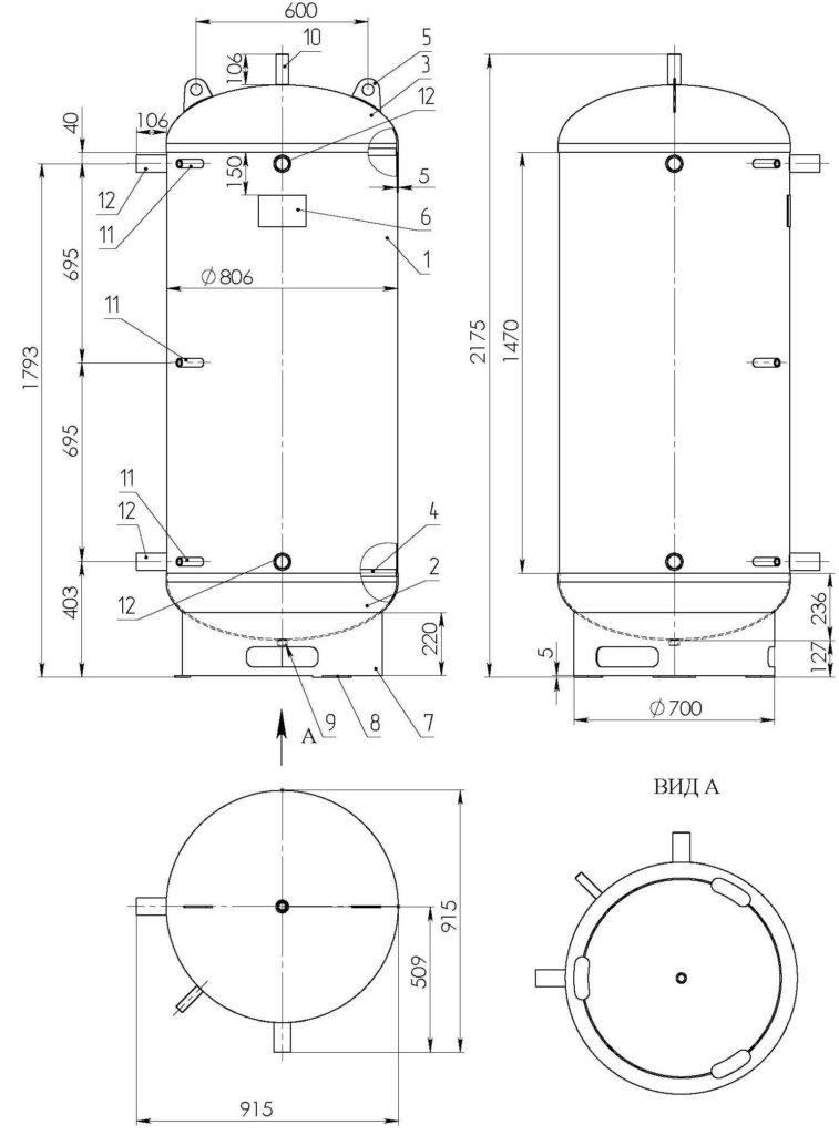 sdБак аккумулятор СД-06 схема