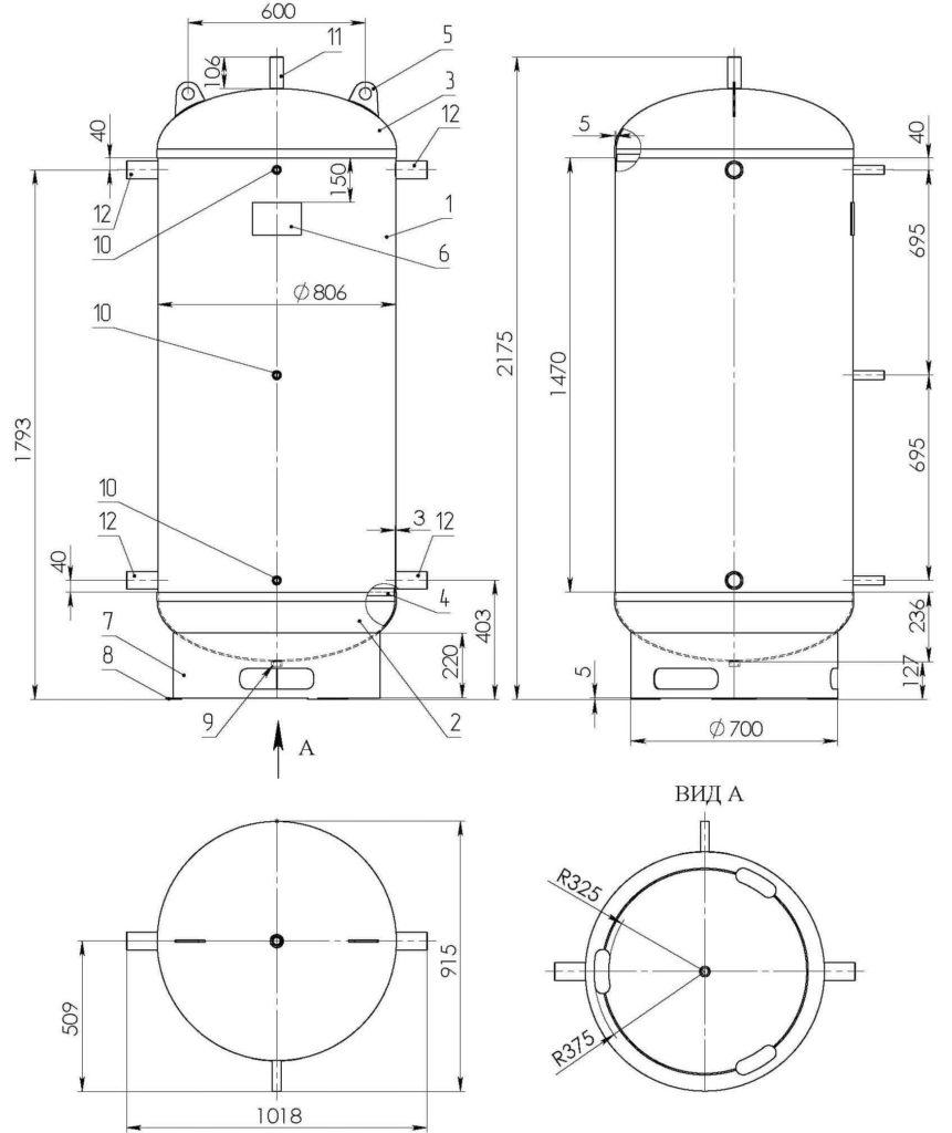 Бак аккумулятор СД-07 схема